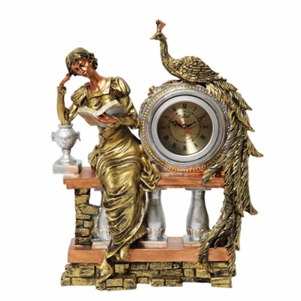 Часы для камина LS00555AB (павлин)