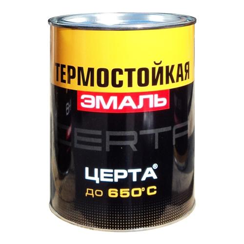 """Эмаль термостойкая """"ЦЕРТА""""  черная"""